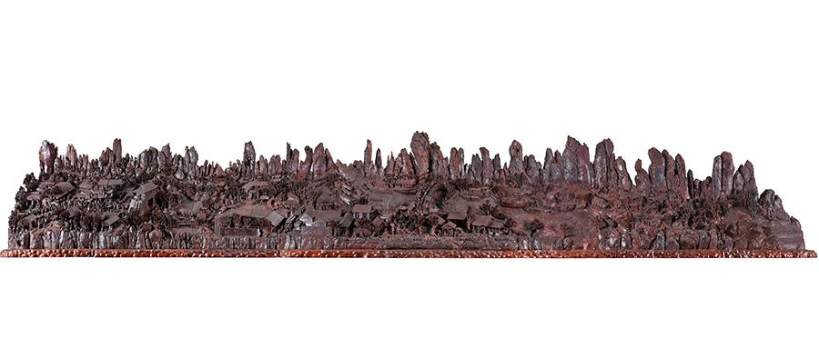 向经典致敬丨到manbetx万博全站app下载,欣赏世界大的小叶紫檀木雕作品《清明上河图》